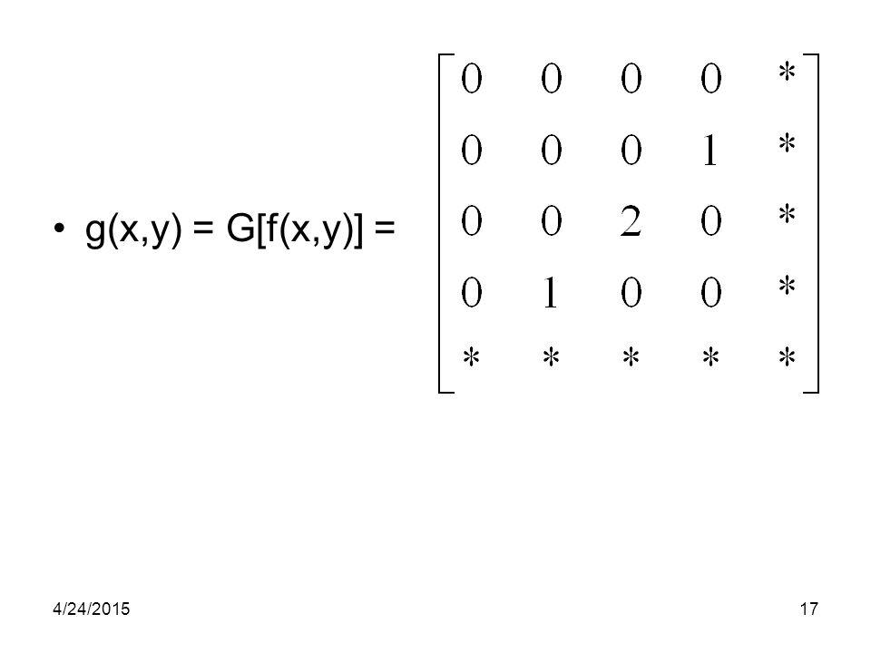 g(x,y) = G[f(x,y)] = 4/14/2017